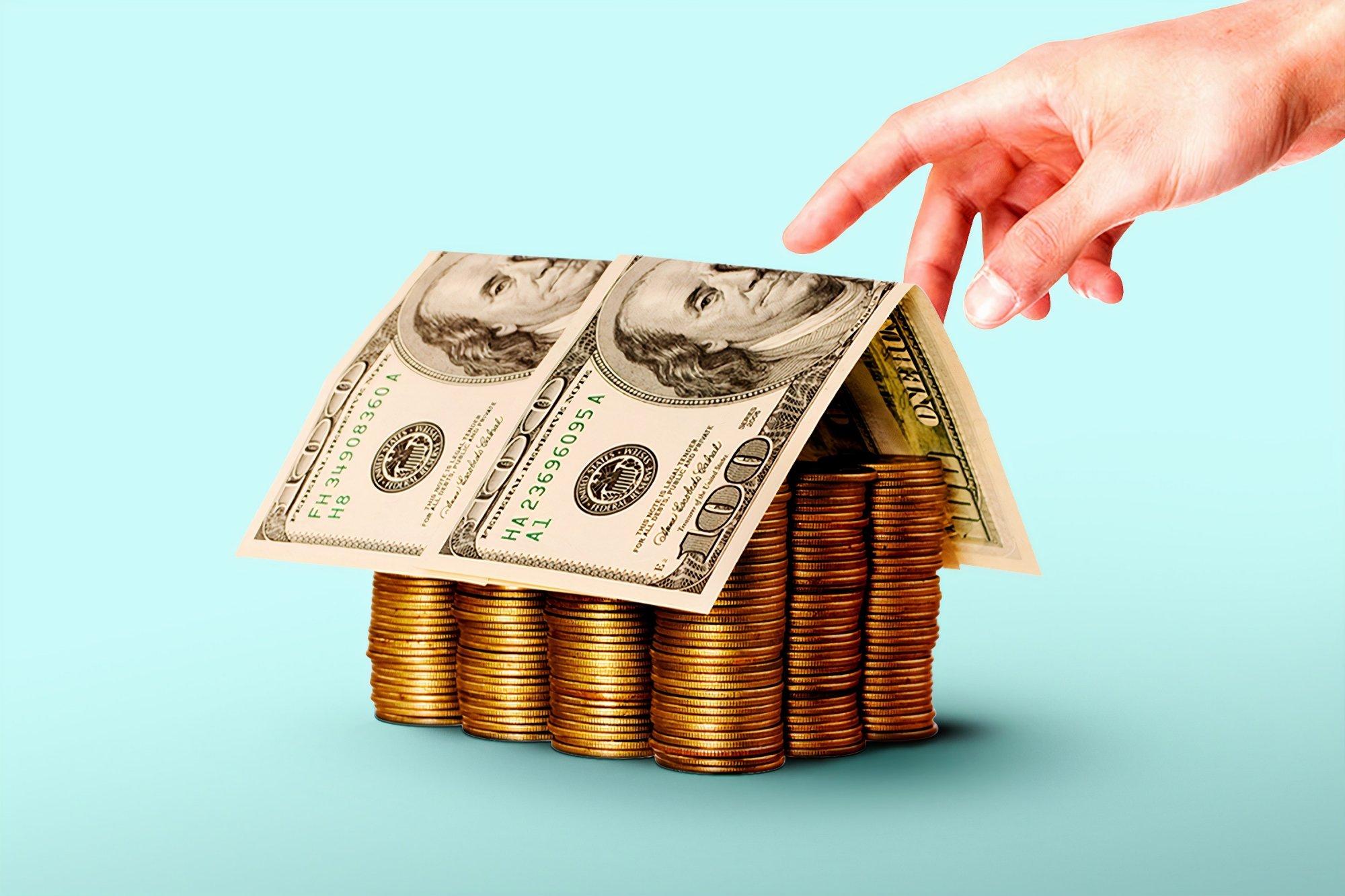 家の形をしたお金